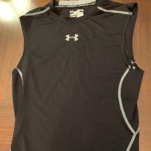 Under Armour black sleeveless workout shirt